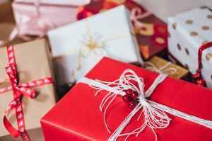 photo of christmas presents